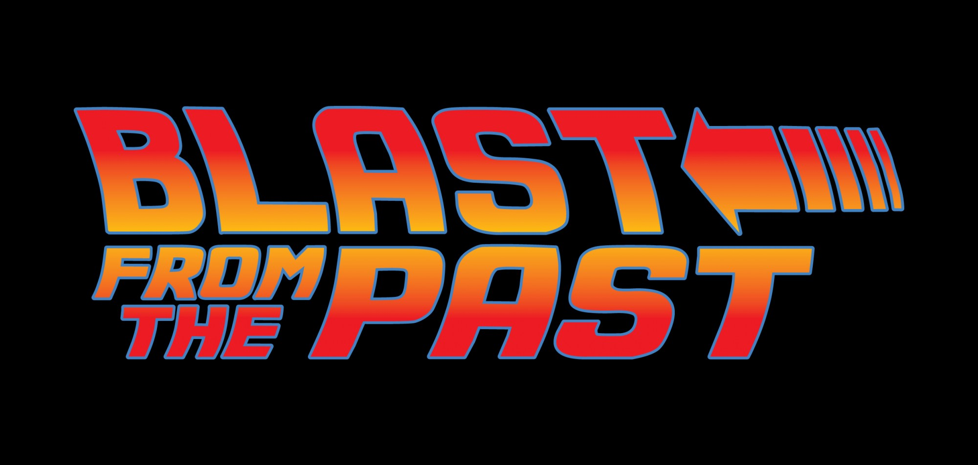 Blast from the past logo on black