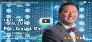 Prof. Santa J. Ono – Video Message to Alumni