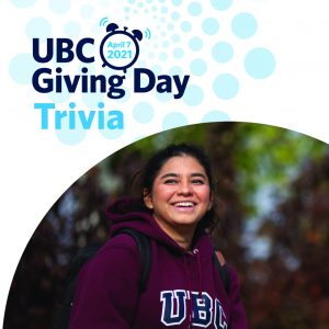 Join the UBC Giving Day 24-hour online giving challenge on April 7th!
